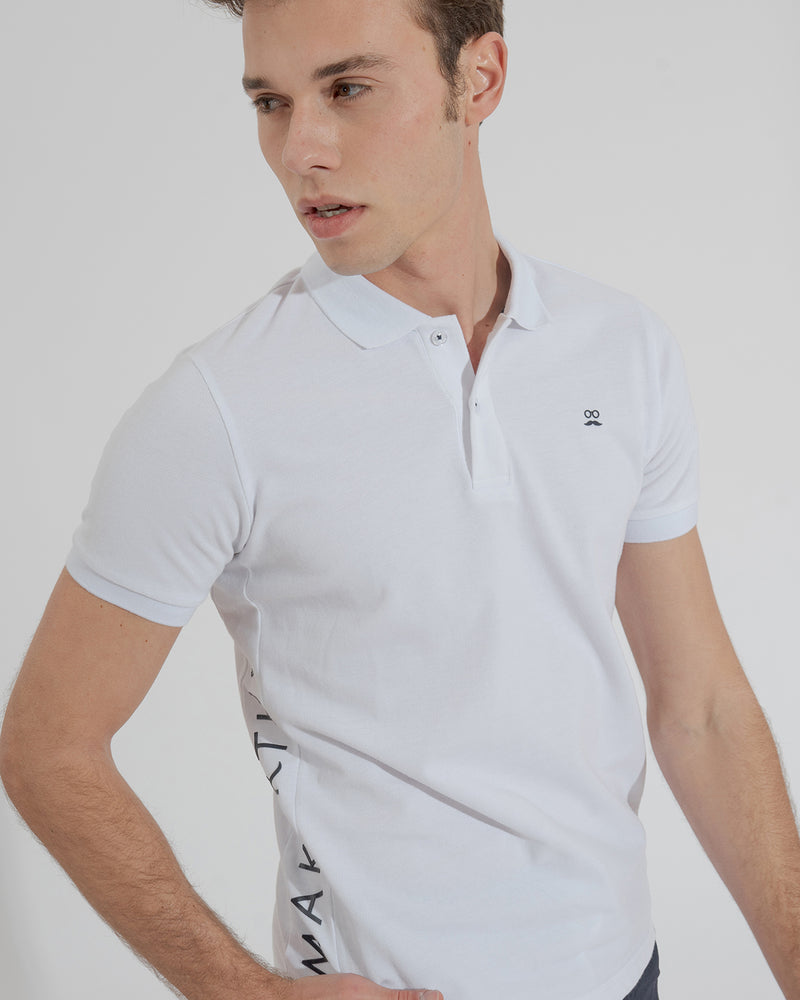 POLO LATERAL BLANCO