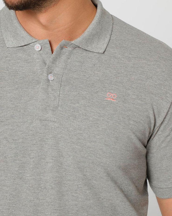 BASIC POLO PIQUET GRIS ROSA