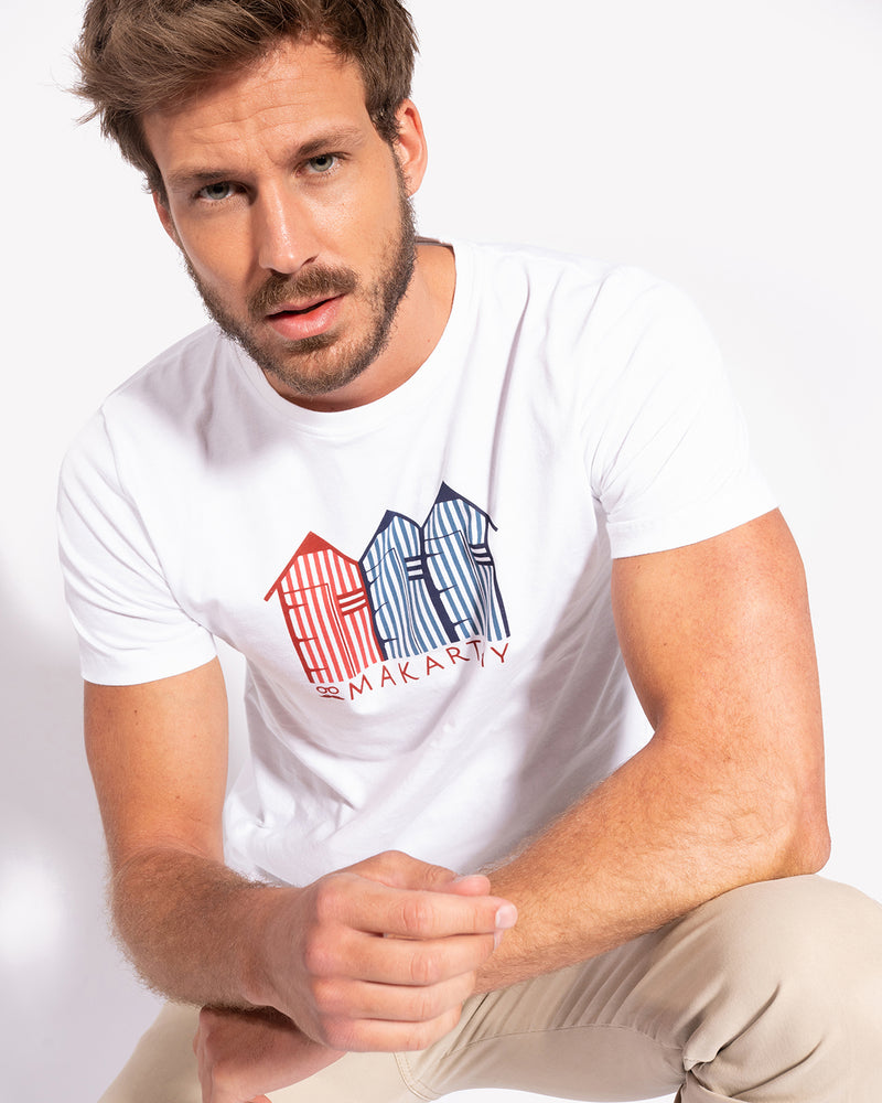 CAMISETA BEACH HOUSE BLANCO