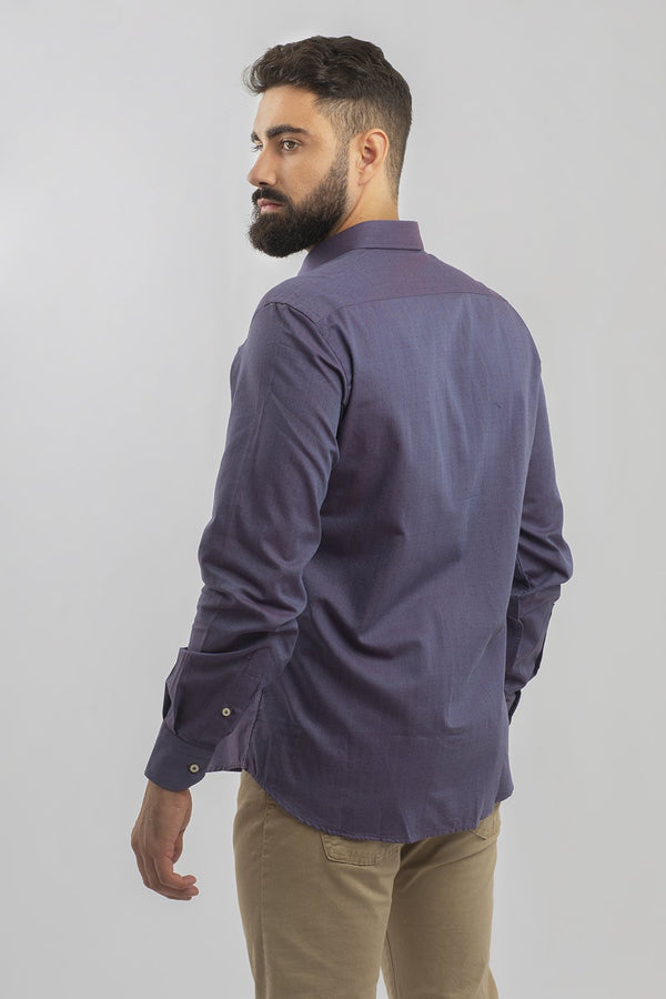 CAMISA DENIM PESPUNTE GRANATE