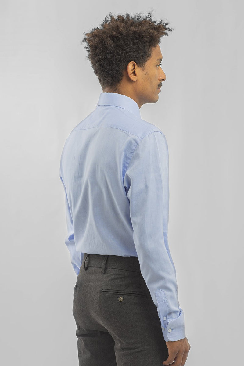 CAMISA PINPOINT OXFORD CELESTE