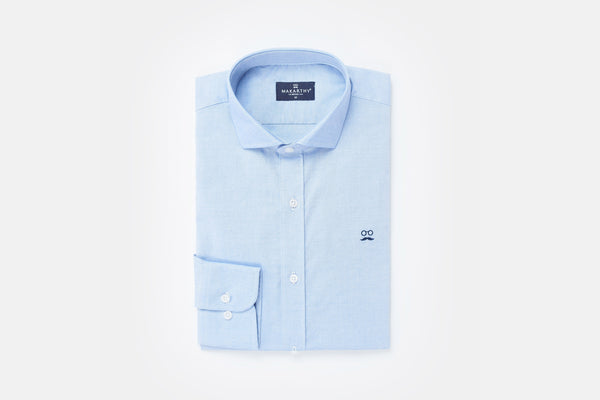 CAMISA OXFORD LIGHT CELESTE