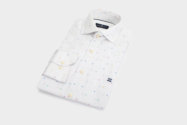 CAMISA BEE DOT BLANCO