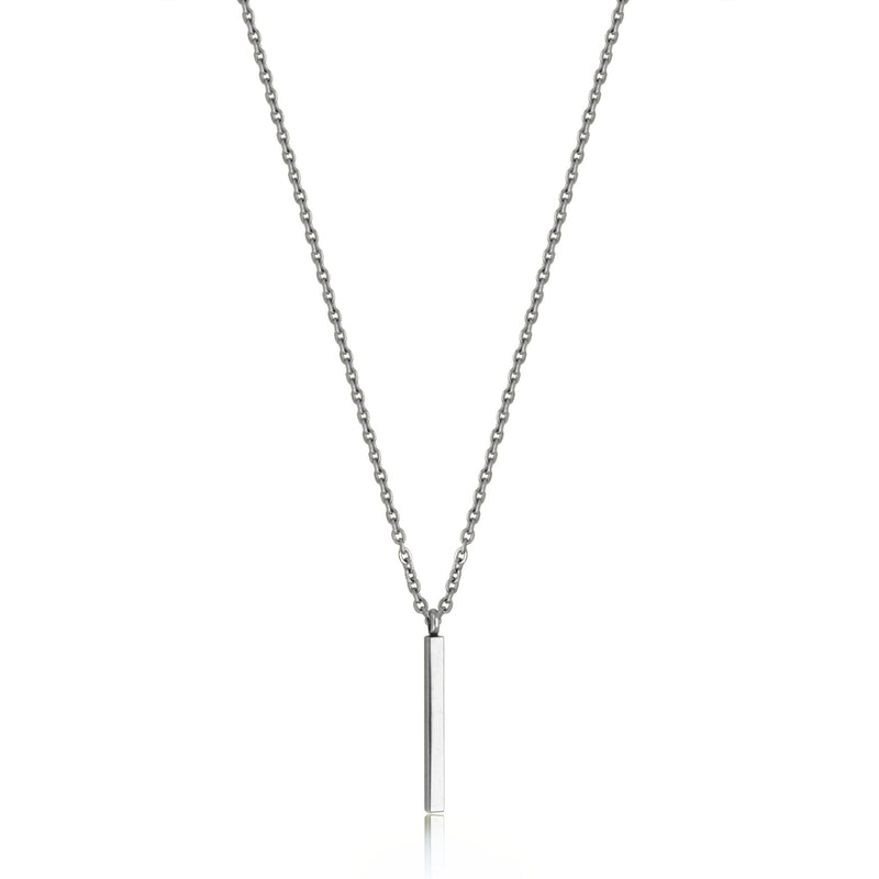 COLLIER EN ACIER TIGE SIMPLE 18+2''