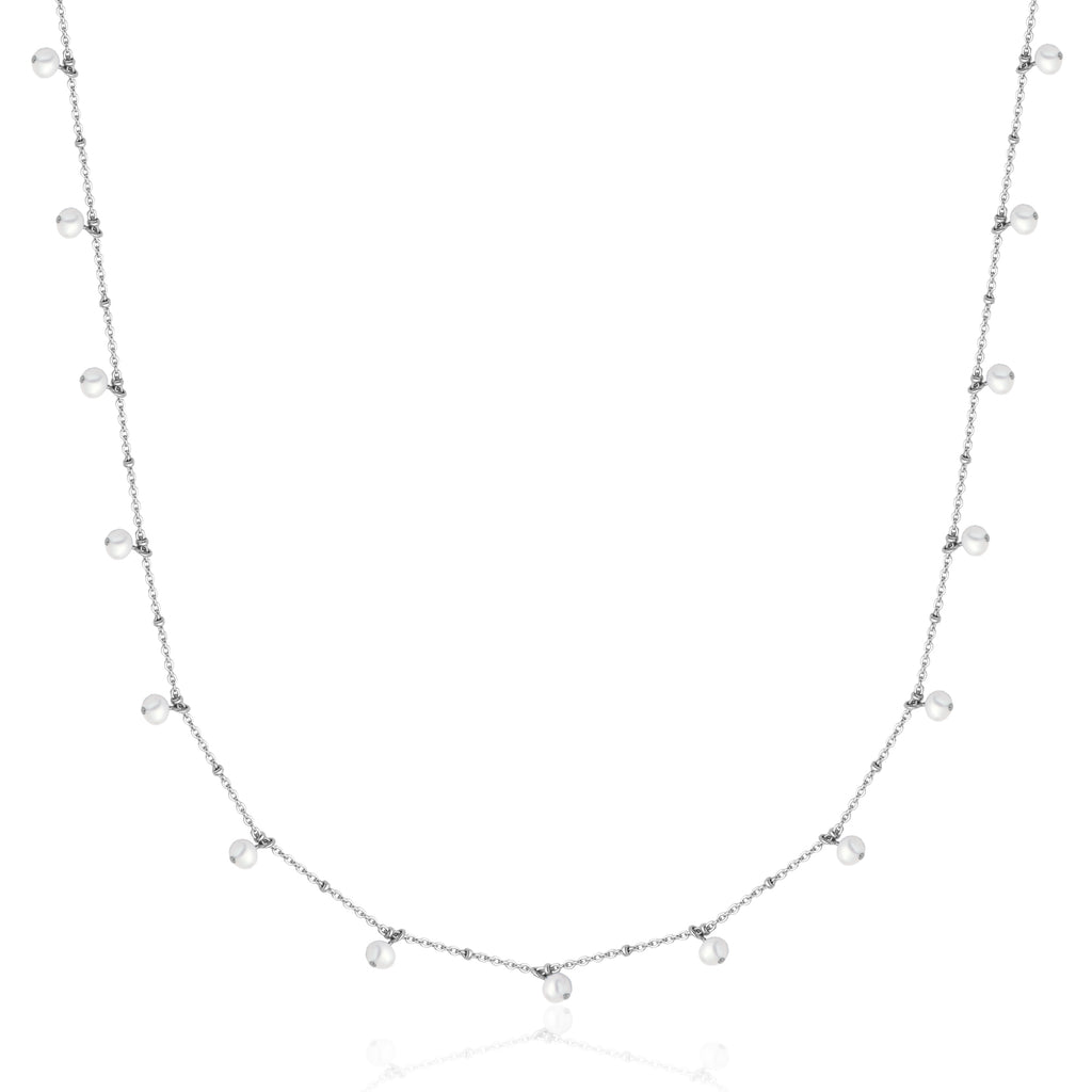 COLLIER LONG ACIER + PERLES T0XD020136