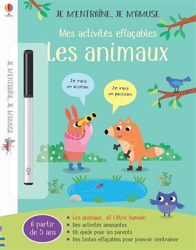 ANIMAUX : MES ACTIVITES EFFACABLES