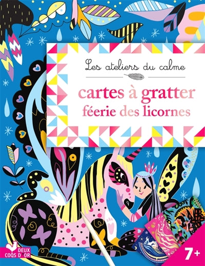 CARTES A GRATTER FEERIE LICORNES