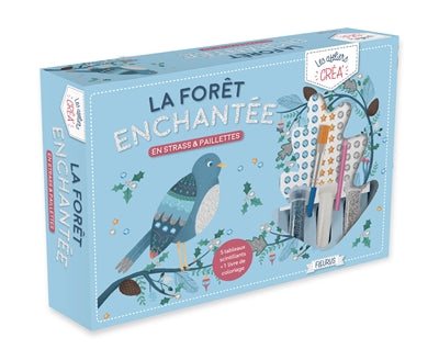 FORET ENCHANTEE EN STRASS ET PAILLETTES
