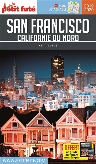 SAN FRANCISCO CALIFORNIE DU NORD 2019-2020 + PLAN DETACHABLE + OF