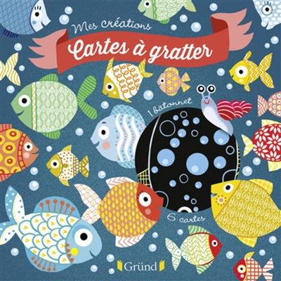 MES CREATIONS CARTES A GRATTER : 12 POISSONS D'AVRIL A DETACHER E