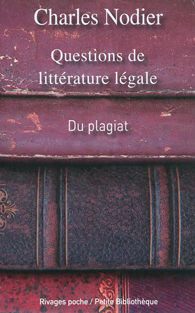 QUESTIONS DE LITTERATURE LEGALES