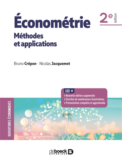 ECONOMÉTRIE : MÉTHODES ET APPLICATIONS