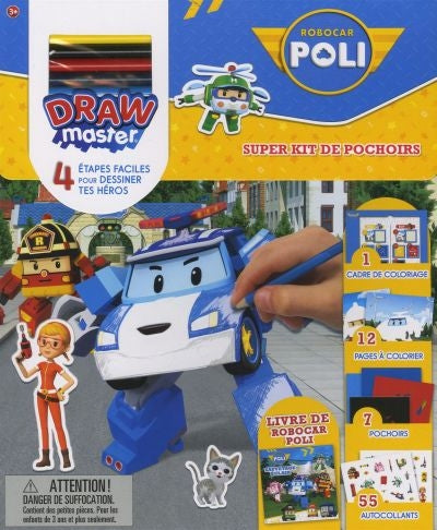 ROBOCAR POLI -SUPER KIT DE POCHOIRS