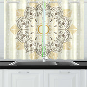 blanc Kitchen Curtain 26'' X 39''(2 Pieces)