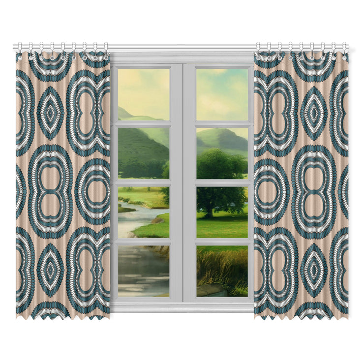 "melancholy Window Curtain 52""x84""(Two Pieces)"