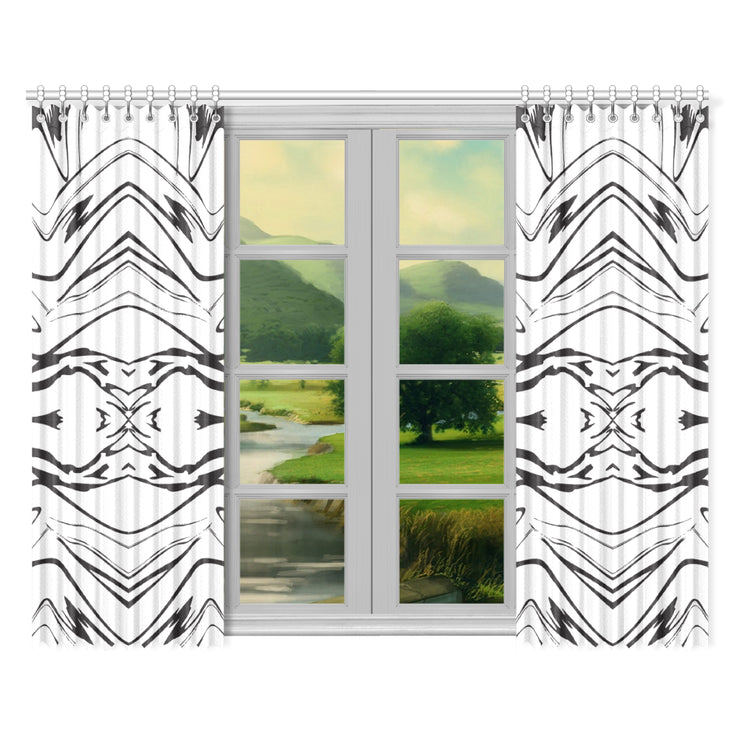"The Warrior Window Curtain 52""x84""(Two Pieces)"