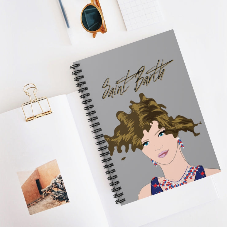 Saint Barth Spiral Notebook - Ruled Line