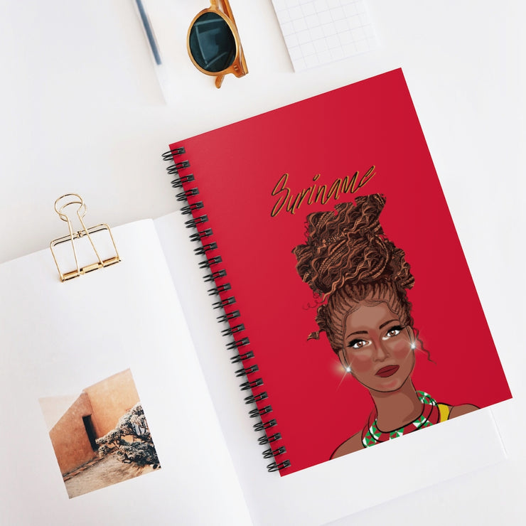 Suriname Spiral Notebook - Ruled Line