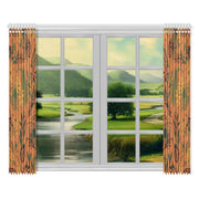 "Unapologetic  Window Curtain 52""x84""(Two Pieces)"