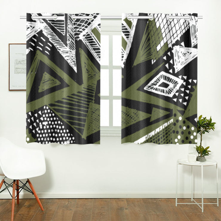 savage Kitchen Curtain 26'' X 39''(2 Pieces)