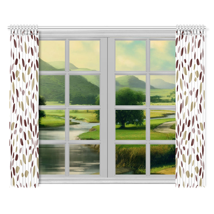 "Apologetic Window Curtain 52""x84""(Two Pieces)"