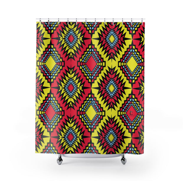 Cautious Shower Curtain print