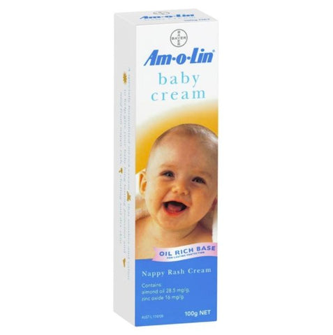 Amolin Baby Cream for Nappy Rash Tube 100g - Haut Monde