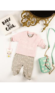 BABY JUST CHILL JUMPER PINK - Haut Monde