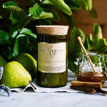 Load image into Gallery viewer, French Pear - Reclaimed Wine Bottle Soy Wax Candles - Haut Monde
