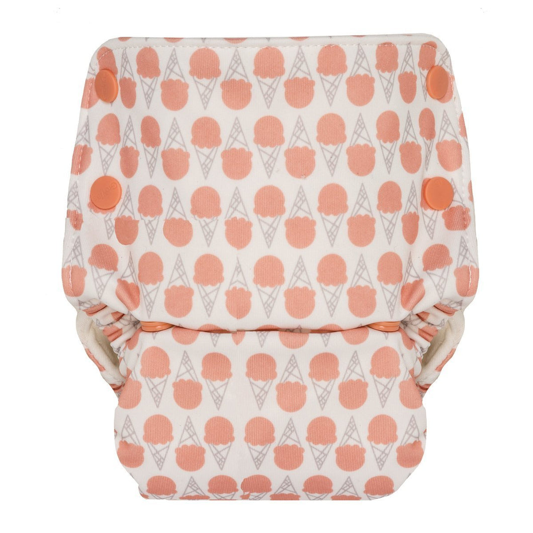 Grovia Organic All In One Reusable Cloth Nappy - Grapefruit Ice Cream - Haut Monde