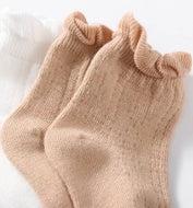 Ma Mer - Cotton Frilly Crew Socks CREAM - Haut Monde
