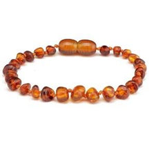 Load image into Gallery viewer, Nature's Child Amber Bracelet - Cognac - Haut Monde