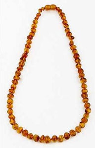 Nature's Child Amber Necklace - Cognac - Haut Monde