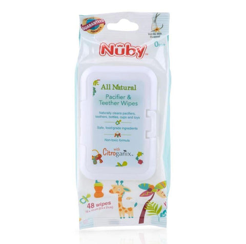 Nuby Citroganix Pacifier and Teether Wipes 48 Pack - Haut Monde