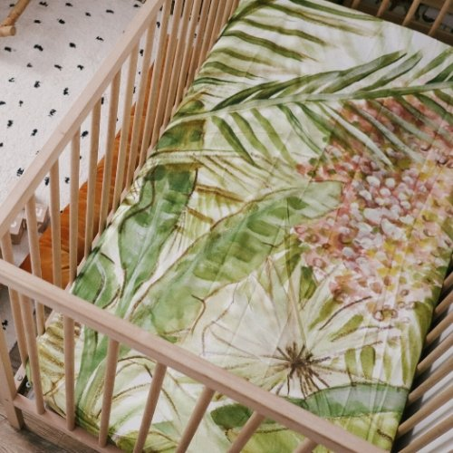 PALMS Cot Sheet - Haut Monde