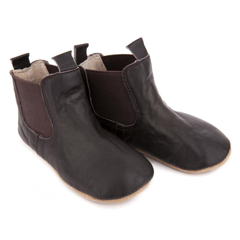 Pre-Walker Leather Riding Boots Chocolate - Haut Monde