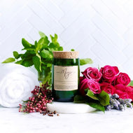 Rose, Pepper & Blackmint - Reclaimed Wine Bottle Soy Wax Candles - Haut Monde