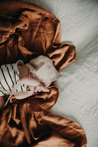 The Essential Swaddle Range - Rusted Mustard - Haut Monde