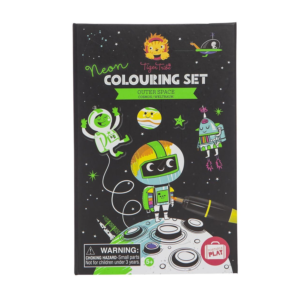 Tiger Tribe Neon Colouring Set - Outer Space - Haut Monde