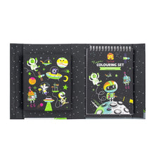 Load image into Gallery viewer, Tiger Tribe Neon Colouring Set - Outer Space - Haut Monde