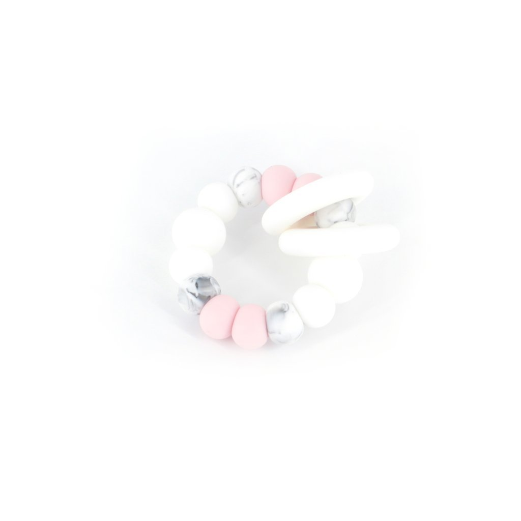 TRIO TEETHER IN MARBLE PINK - Haut Monde