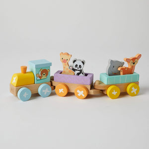 Wooden Train Set – Animals - Haut Monde