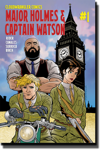 "Major Holmes & Captain Watson #1 Print Comic ""Brick Series"" alt-cover"