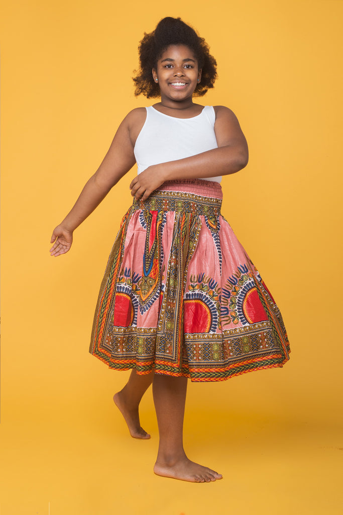 Girl Dashiki Skirt