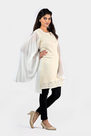 CHIKANKARI SHORT DRESS/KURTI