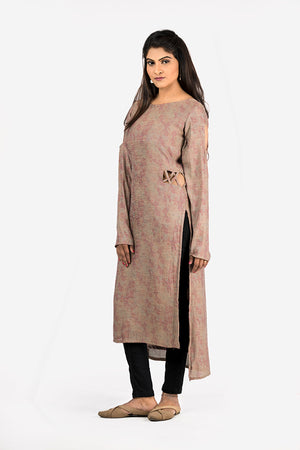 GREY KRUTI WITH SIDE WAIST CUTS