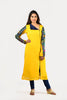 BANARASI SLEEVES YELLOW KURTI