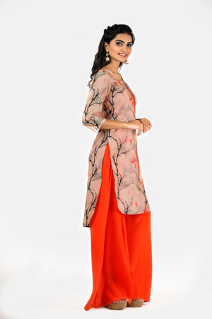 KURTA CROP TOP PALLAZO SET