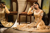 GOLDEN ROYAL SATIN GOWN