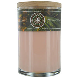 Coconut By  Soy Candle 12 Oz Tumbler. A Warm & Welcoming Blend With Tiger Eye Gemstone. Burns Approx. 30+ Hours